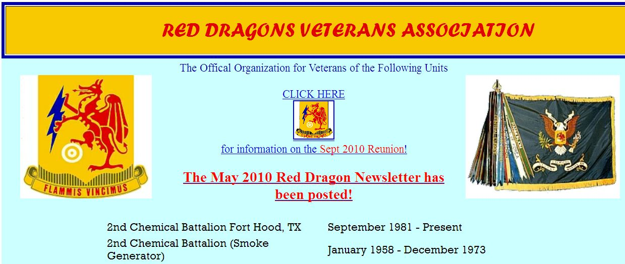 Red Dragons Veterans Association Homepage